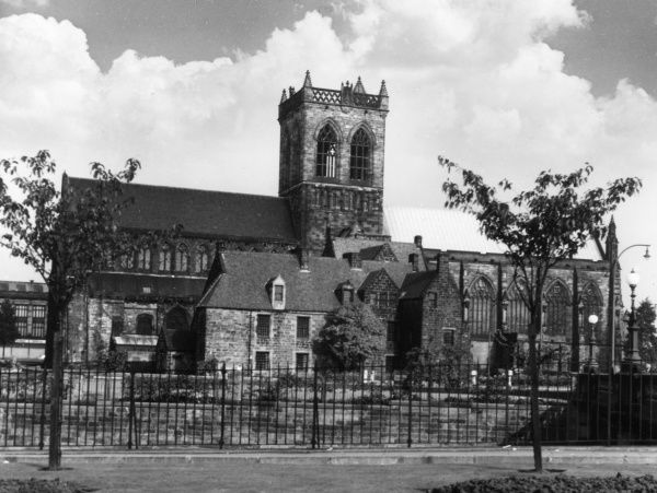 Paisley Abbey is a former Cluniac monastery in Renfrewshire, Scotland. Destroyed by the English in 1307. Rebuilt by the Stuarts; resting place of Robert III. Date: 12th century