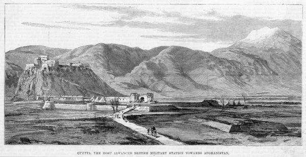 General view of the town in Baluchistan, at this time the closest British military station to Afghanistan