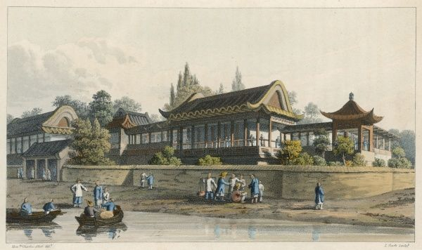 The summer palace of the Emperor of China, opposite the city of Tianjin (previously Tientsin)