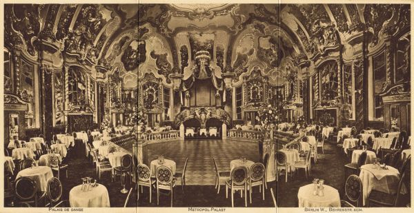 The world famous Palais de Danse in the Metropol-Palast, Berlin, pre World War 1 through the 1920s Date: 1910-1920