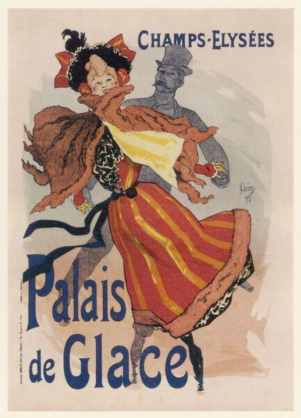 Poster for the fashionable Palais de Glace in the Champs Elysees, Paris