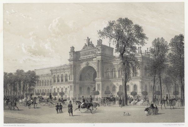 This exhibition hall was built for the 1855 Exposition : it was demolished in 1897, and the site became the avenue Alexandre III