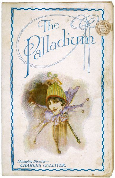 The cover of a programme for the Palladium theatre, London. The bill featured Marie Lloyd