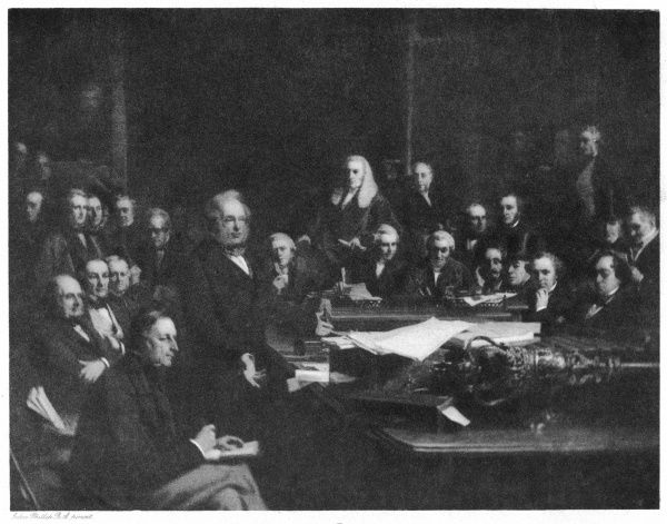 Palmerston and his cabinet