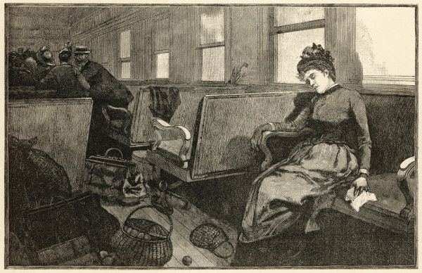 Passengers flee a railway carriage in Florida after a female passenger shows symptoms of Yellow fever