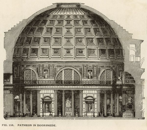 Reconstruction of the the PANTHEON showing interior structure