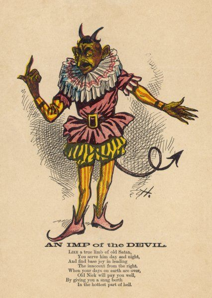 A popular image of the Devil - more a figure of fun than a menace to be taken seriously
