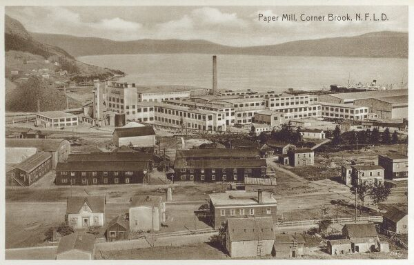 Paper and Pulp Mill, Corner Brook - Newfoundland and Labrador Date: circa 1910s