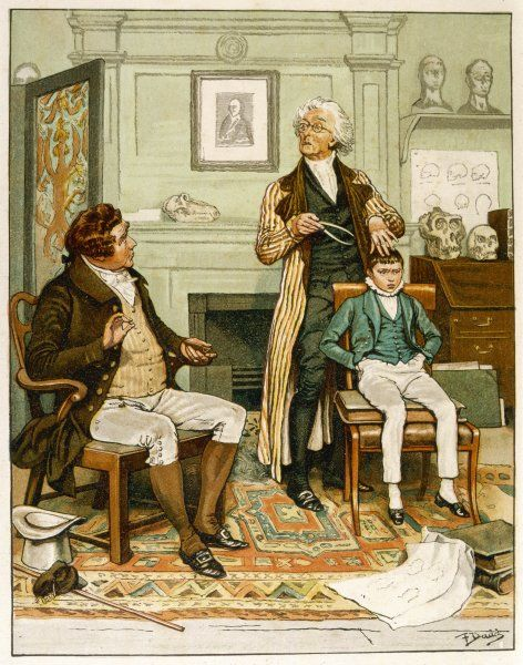 'The boy - what will he become ?' the phrenologist in his consulting-room