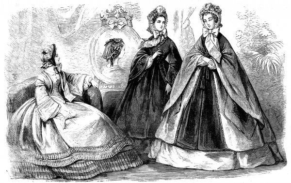 A selection of dresses designed for the winter of 1864