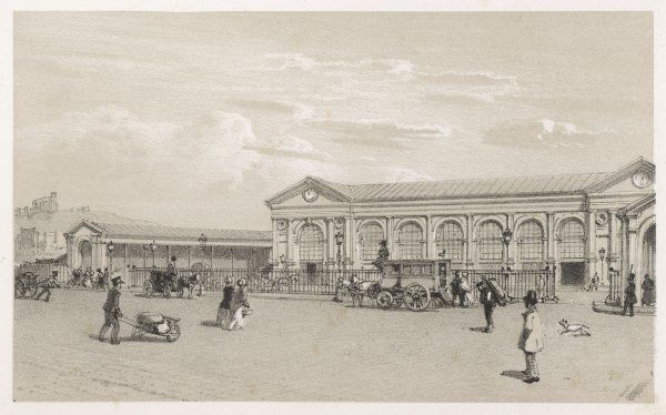 Le gare du Nord, street view of the terminus serving north-west France