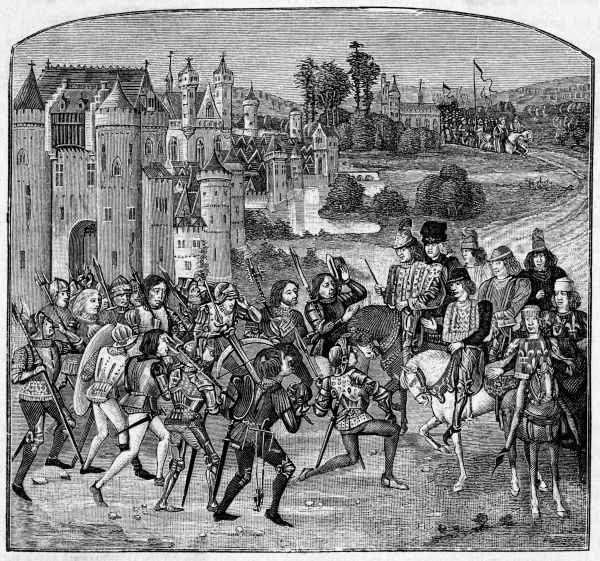 The 'Mailottins' of Paris are just one of the popular uprisings throughout France, demanding fiscal reform : 13- year old Charles VI rides out to meet the rioters