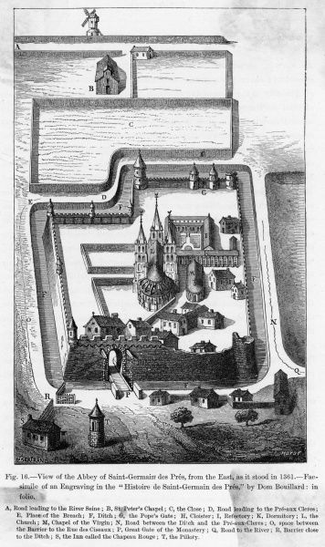 The abbey as it stood in the fourteenth century