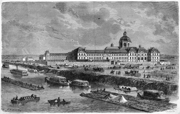 The manufactory of saltpeter (potassium nitrate) used to make gunpowder : in the 19th century it will become one of Paris's leading hospitals, associated with Charcot etc