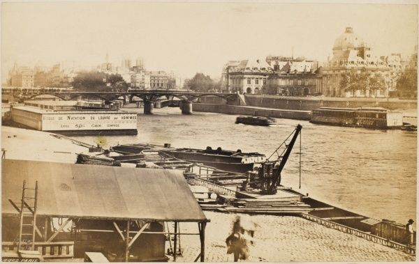 the Seine, viewed from the quais by the Louvre
