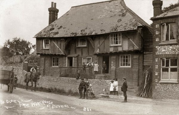 The medieval timber-framed building on Mouse Lane, Steyning, Sussex, that once served as the parish workhouse