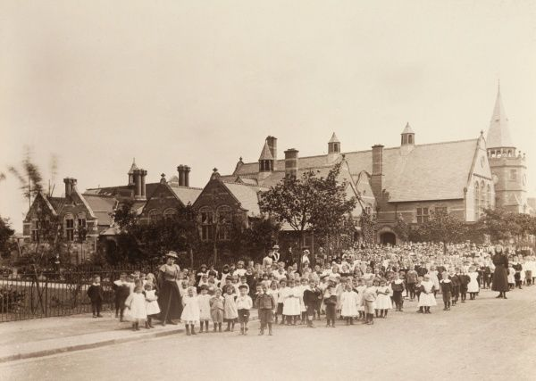 Park Road Schools, Port Sunlight, Cheshire. Date: late 19th century