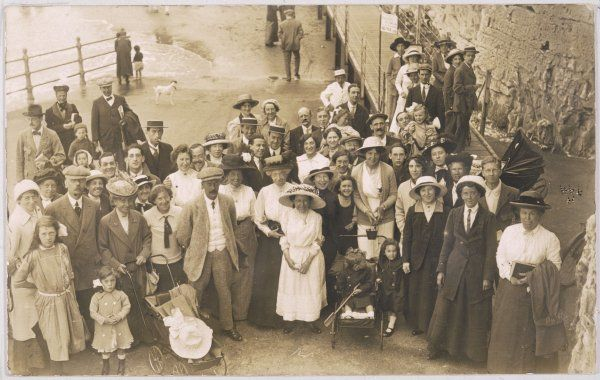 Quite a few happy faces among this group posing for their photo at Cliftonville, Avon