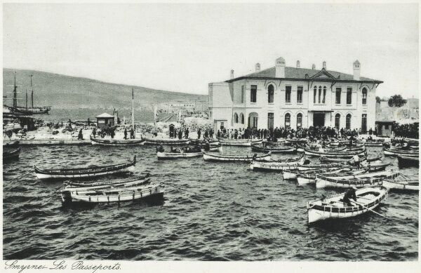 The 'Pasaport' Quay - Customs and Immigration House at the harbour of Izmir (Smyrna), Turkey