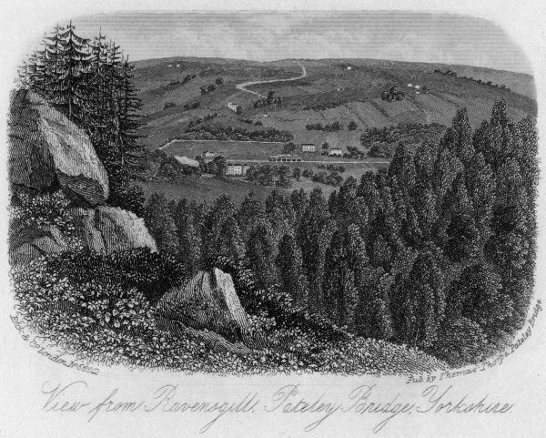 View from Ravensgill, Pateley Bridge, Yorkshire Date: circa 1860