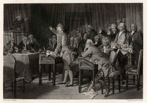 Patrick Henry, in the Virginia House of Burgesses, introduces radical resolutions opposing the Stamp Act, warning King George III that he could go the way of Caesar and Charles I