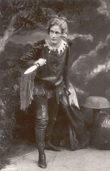 Pauline Chase in the stage version of Peter Pan. Chase was J. M. Barrie's favourite actress for playing the part of the 'lovable tomboy&#39