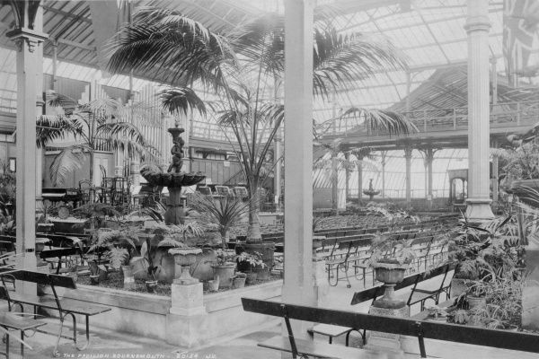 A view of the interior of the Pavillion building in the Winter Gardens, Bournemouth