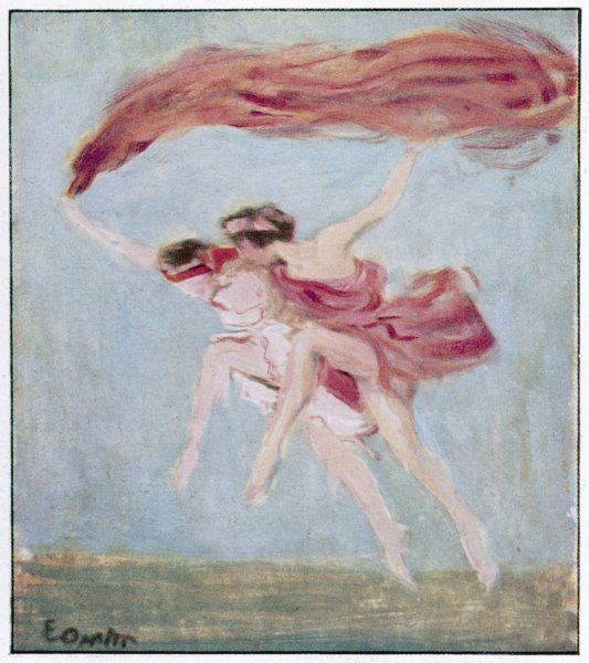 Anna Pavlova and Laurent Novikoff dancing a bacchanal