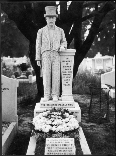 The elaborate headstone of Henry Croft who died on 1 January 1930