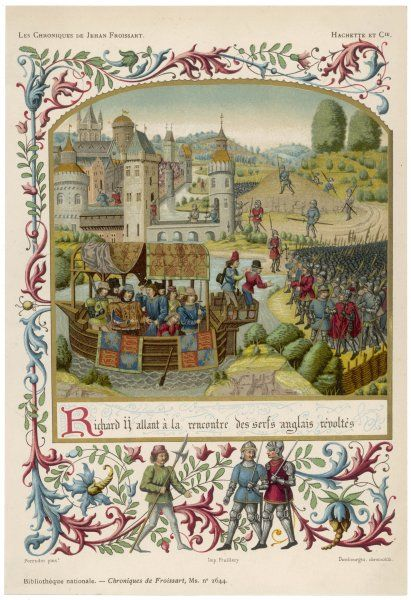 PEASANTS REVOLT: Richard II sails down the Thames to Greenwich to meet the rebels