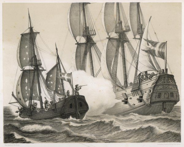 Peder Thordenskjold (a Norwegian naval warrior in Danish service) defeats a Swedish frigate, although only in a small hoy