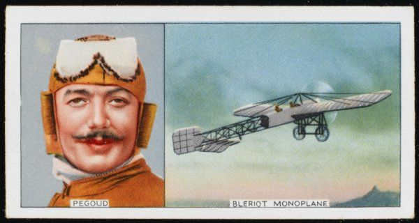 Adolphe Pegoud, French aviator, noted for his acrobatic flying feats and 'looping the loop&#39