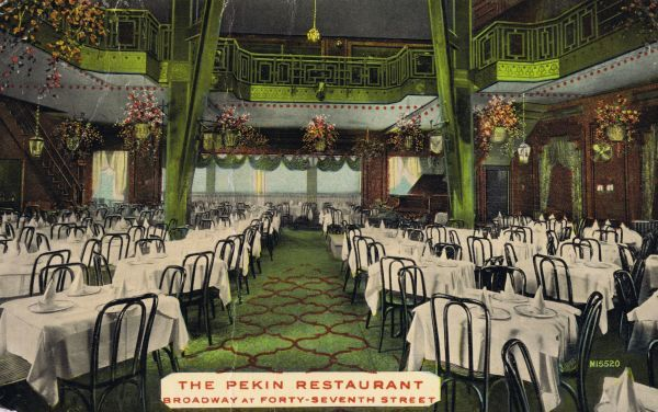 The Pekin Restaurant, Broadway at 47th Street, New York Date: 1920s