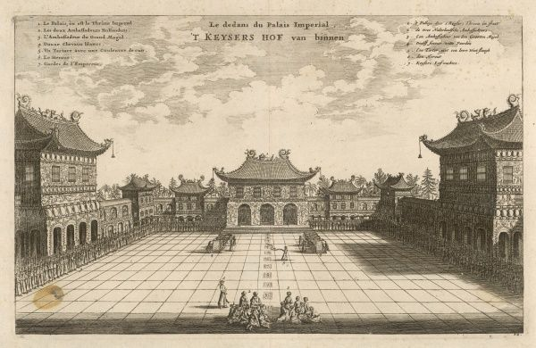 Dutch embassy received at the Imperial Palace at Peking (now Beijing)