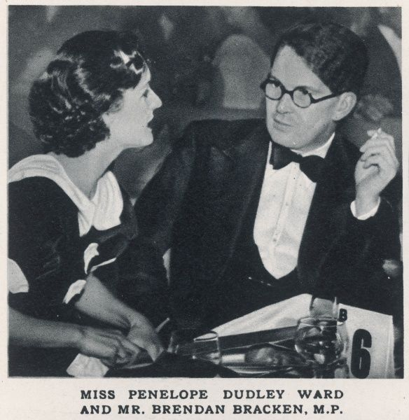 Actress Penelope Dudley Ward (1914-1982) and MP Brendan Bracken(1901-1958)at the London Casino opening night