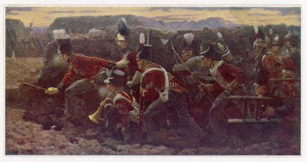 PENINSULA WAR British troops under Wellington and General Picton, storm the garrison at Badajoz