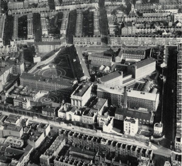 An aerial view of Pentonville Prison in Islington, North London