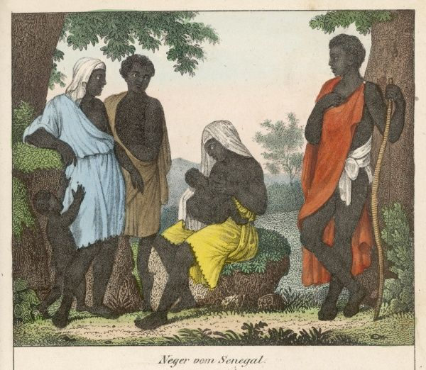 Men and women of Senegal, and a Senegalese baby