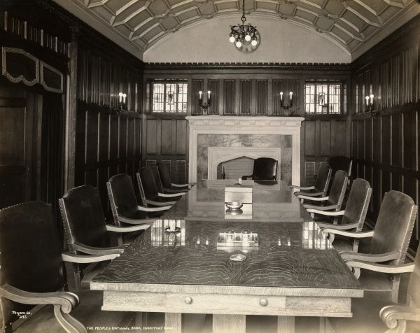 The Peoples National Bank, Directors' Room. Board room