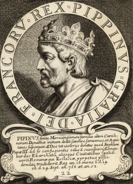 PEPIN LE BREF King of the Franks from 752 father of Charlemagne, husband of Berthe