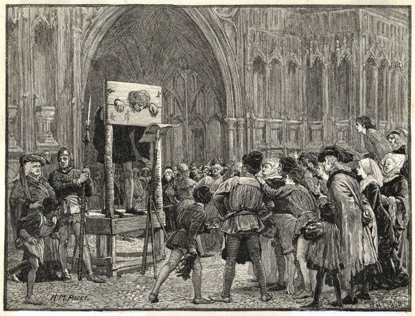 Perkin Warbeck, claimant to the English crown, is placed in the pillory on the orders of Henry VII