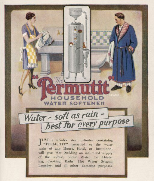 Advertisement for Permutit water softener
