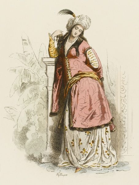 A Persian lady of the 17th century