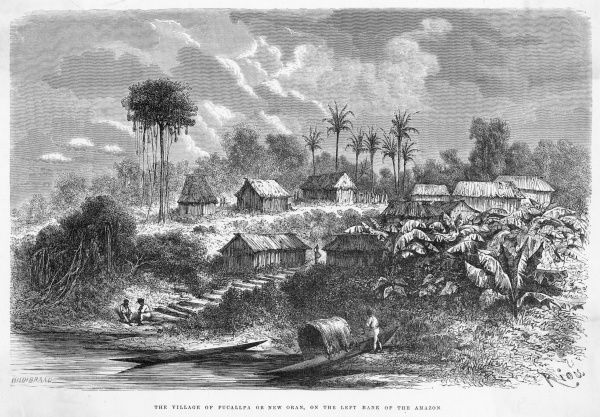 A village on the banks of the Amazon