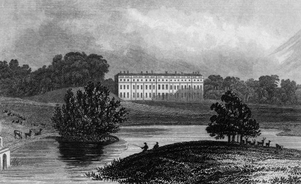 Distant view of Petworth House, Sussex, seat of the Earl of Egremont Date: circa 1830