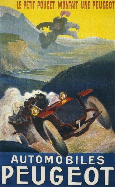 An interesting advertisement for Peugeot fusing the traditional elements of speed and excitement with Charles Perrault's tale of Le Petit Poucet