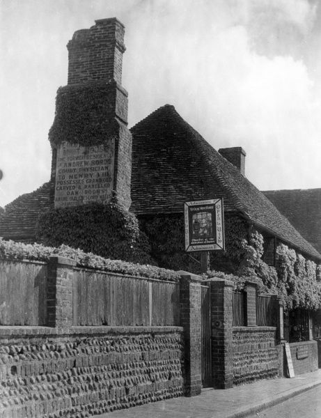 Ye Olde Mint House, Pevensey, Sussex, England, was erected in 1342 on the site of a Norman mint reputed to have been establised c. 1076. Date: 14th century