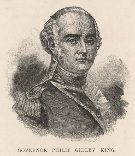 PHILIP GIDLEY KING First governor of Norfolk Island, third governor of New South Wales, Australia