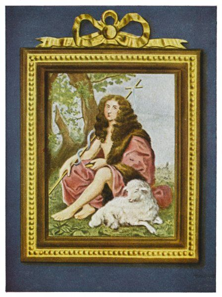 PHILIPPE I, duc d'ORLEANS brother of Louis XIV, founder of later Orleans line : here depicted for some obscure reason as John the Baptist