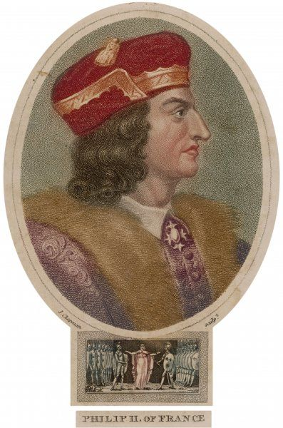 PHILIPPE II AUGUSTE king of France reigned from 1179-1223